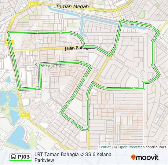 PJ03 bus Line Map