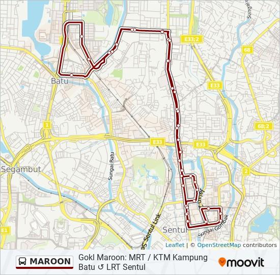 MAROON bus Line Map