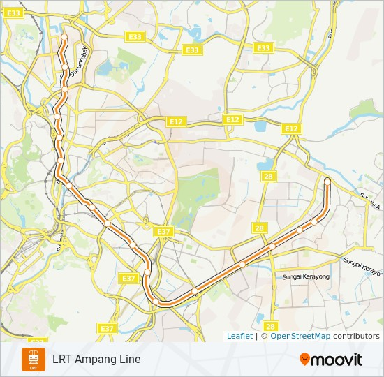 3 mrt & lrt Line Map
