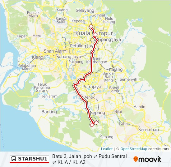 Peta Laluan bas STARSHU1