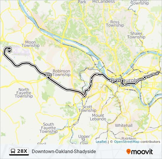 28X bus Line Map