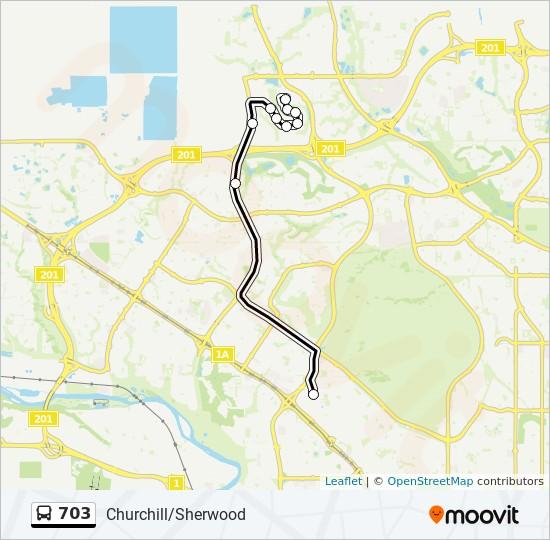 703 bus Line Map