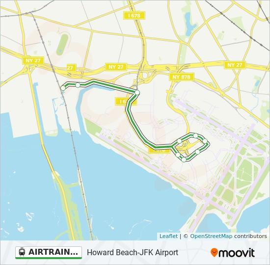 AIRTRAIN JFK GREEN light rail Line Map