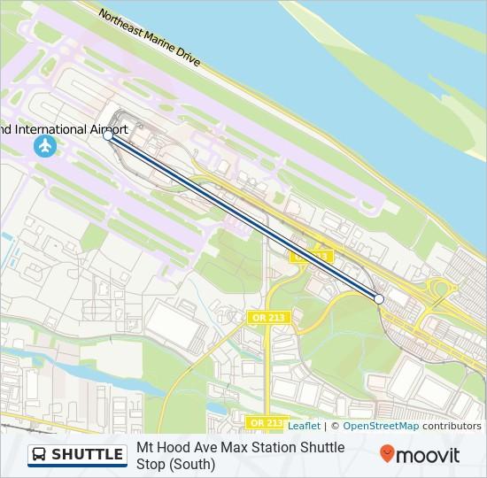 Mapa da linha SHUTTLE de ônibus