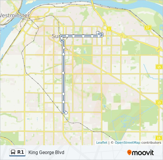 R1 bus Line Map