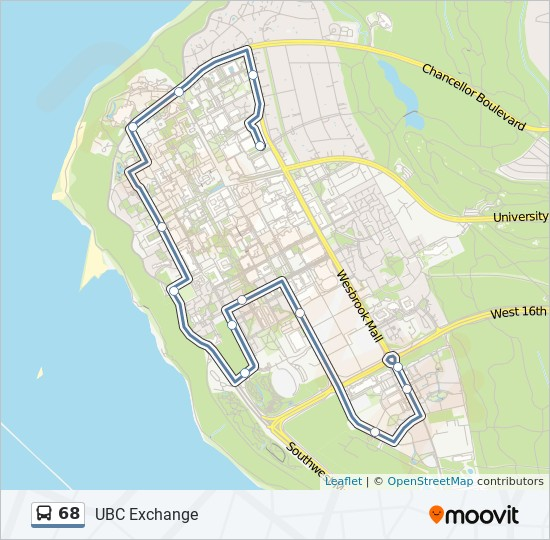 68 bus Line Map