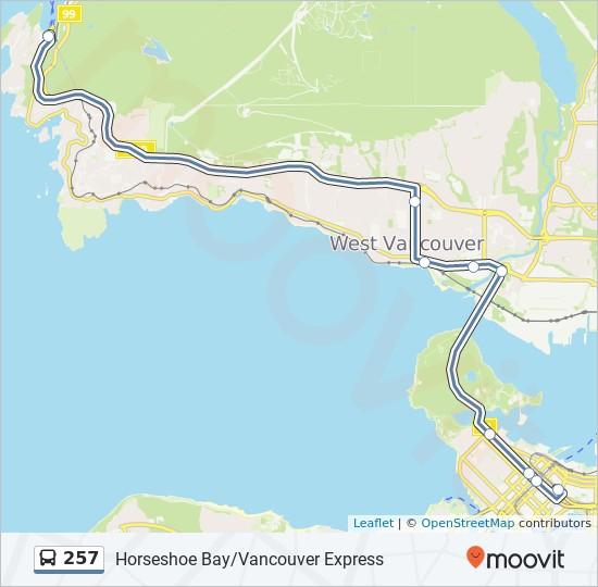 257 bus Line Map