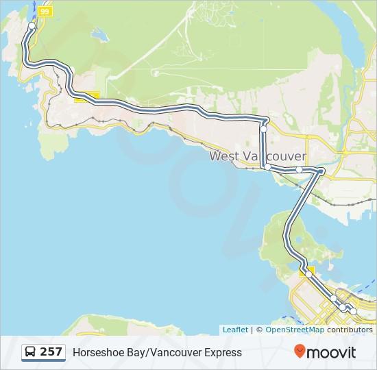 Plan de la ligne 257 de bus