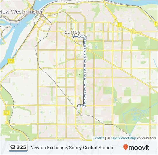 325 bus Line Map