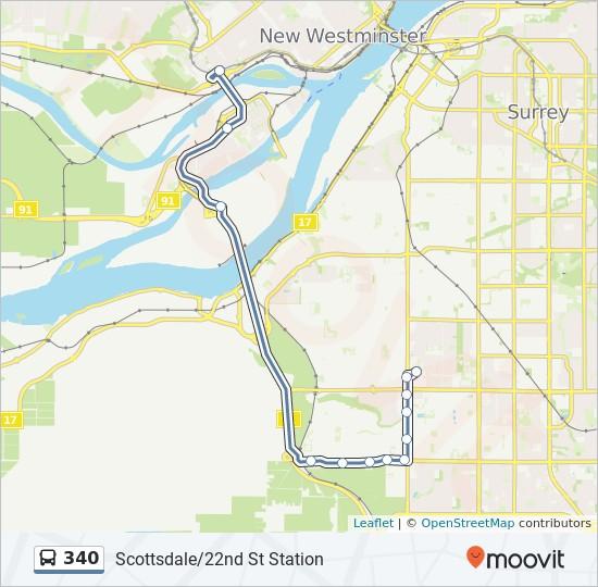 340 bus Line Map