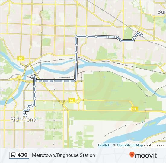 430 bus Line Map