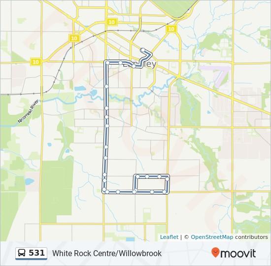 531 bus Line Map