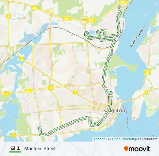 公交1路的线路图