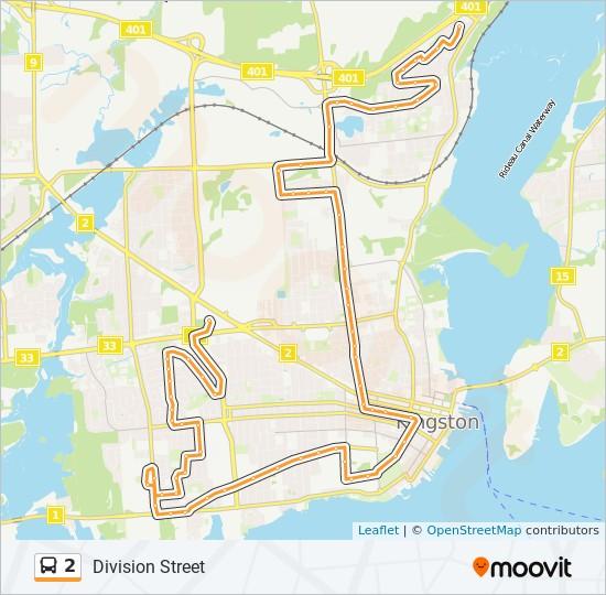 公交2路的线路图