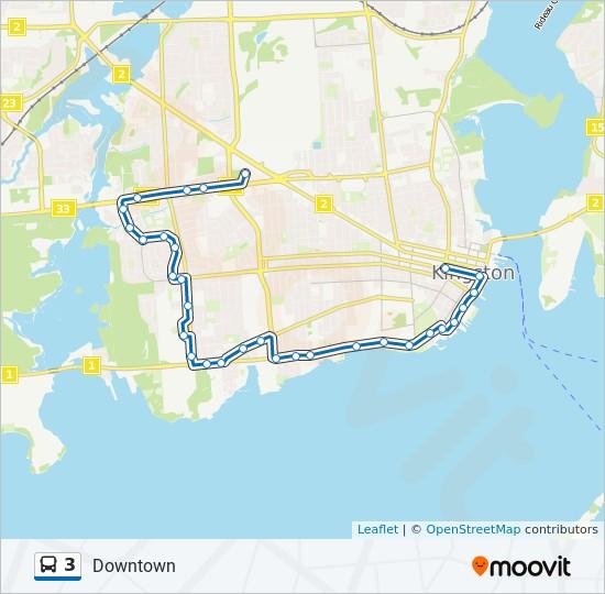 公交3路的线路图