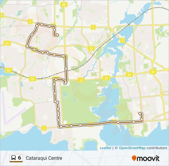 公交6路的线路图