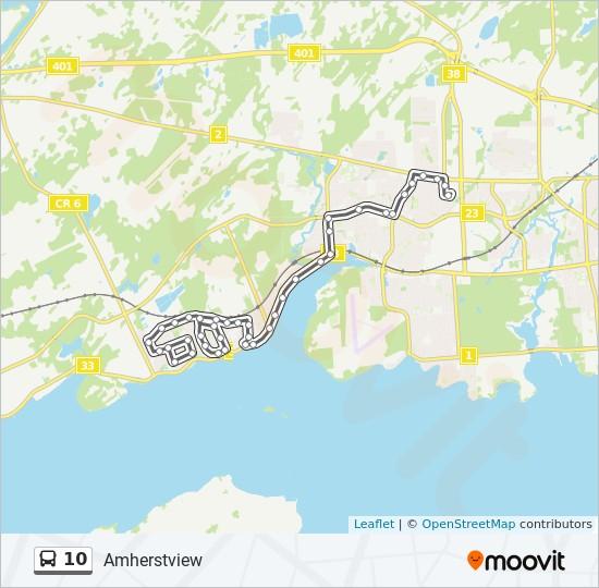公交10路的线路图