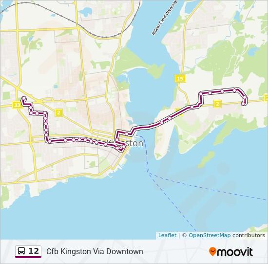 公交12路的线路图