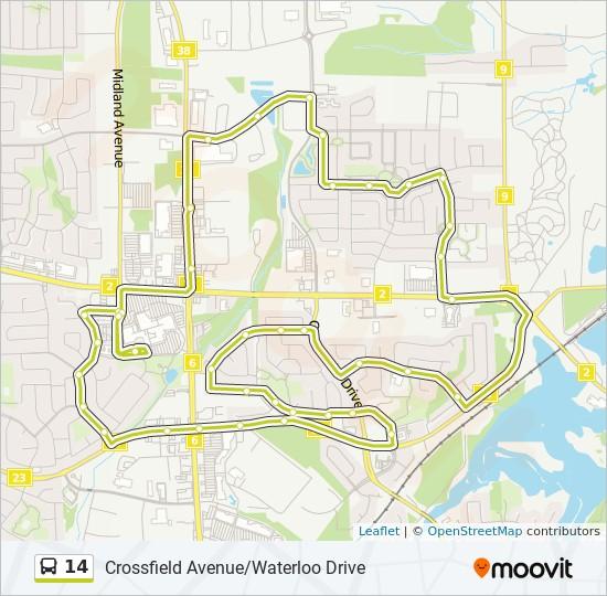 公交14路的线路图