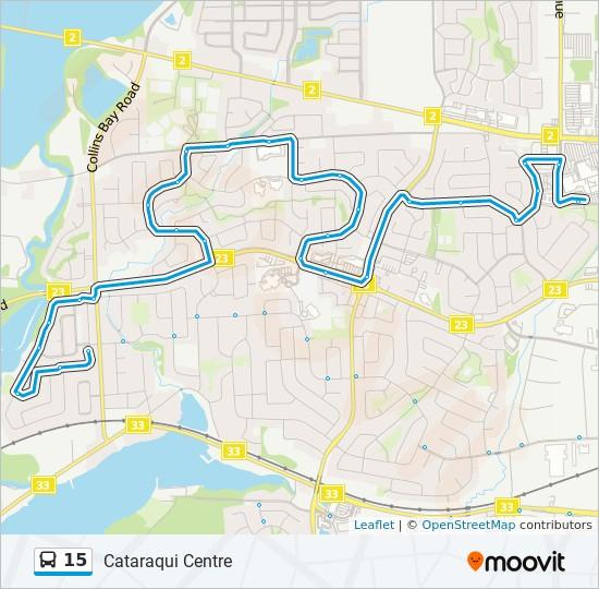 公交15路的线路图