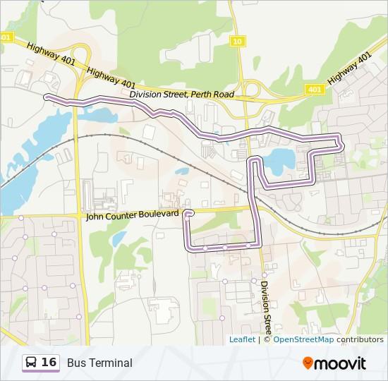 公交16路的线路图