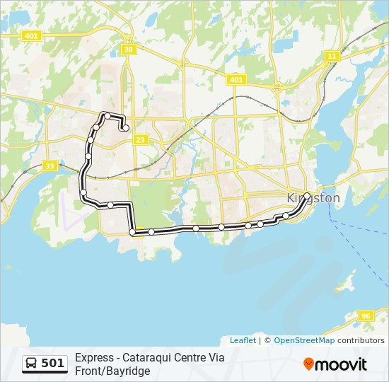 公交501路的线路图