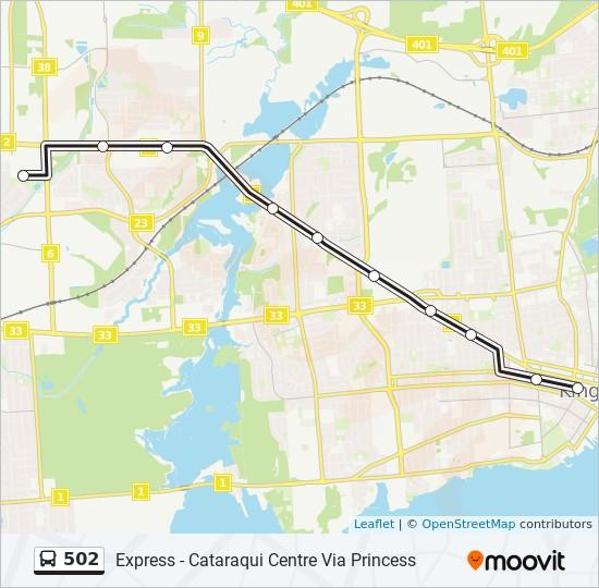 公交502路的线路图
