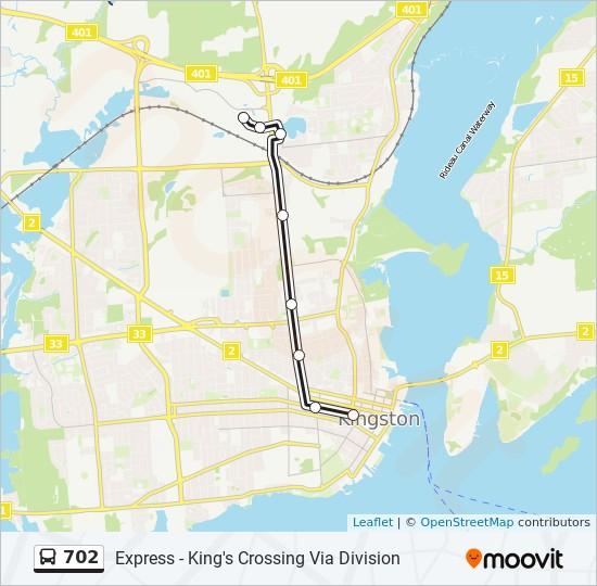 公交702路的线路图
