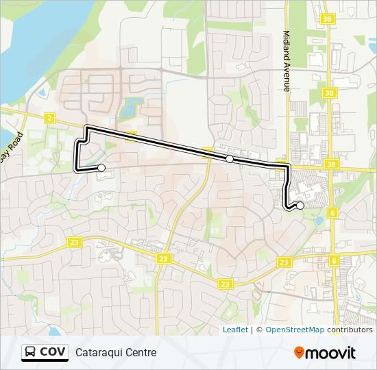 公交COV路的线路图