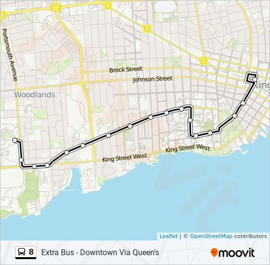 公交8路的线路图