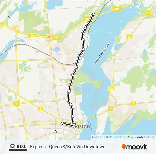 公交801路的线路图