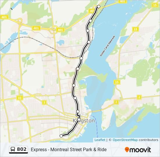 公交802路的线路图