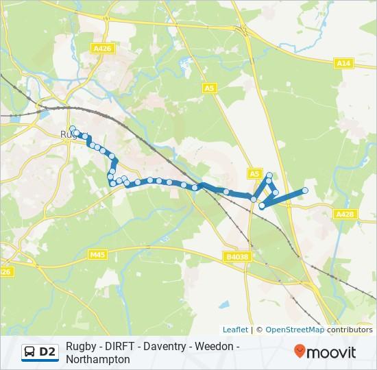 D2 Route Schedules Stops Maps Crick