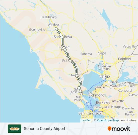 SMART train Line Map