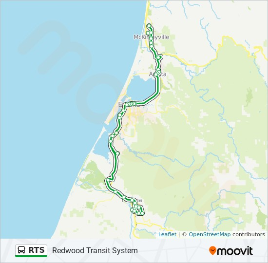 Rts Route Time Schedules Stops Maps Arcata Eureka Airport Kenmar Rd Fortuna Overlook