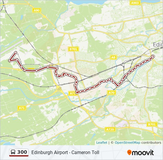 300 Route Schedules Stops Maps Edinburgh Airport