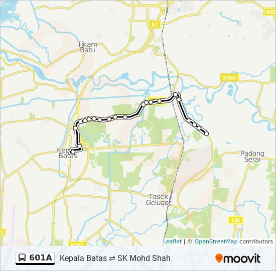 Peta Laluan bas 601A