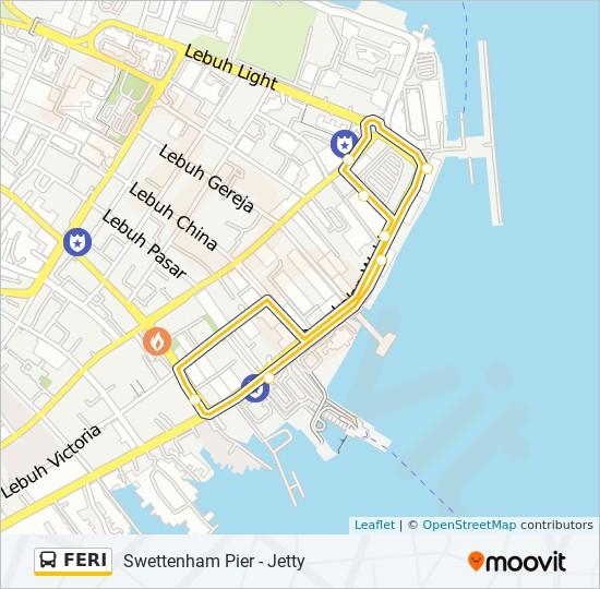 Peta Laluan bas FERI