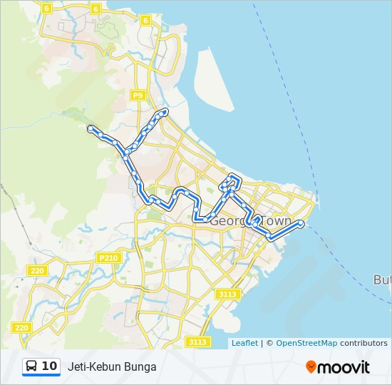 Peta Laluan bas 10