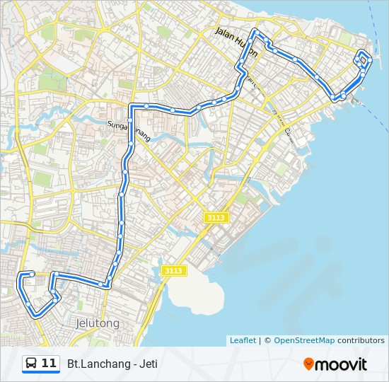 Peta Laluan bas 11