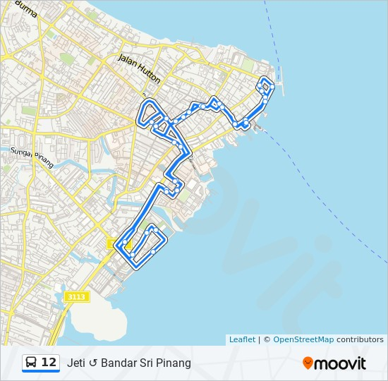 Peta Laluan bas 12