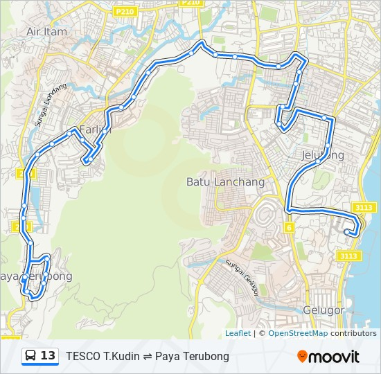 Peta Laluan bas 13