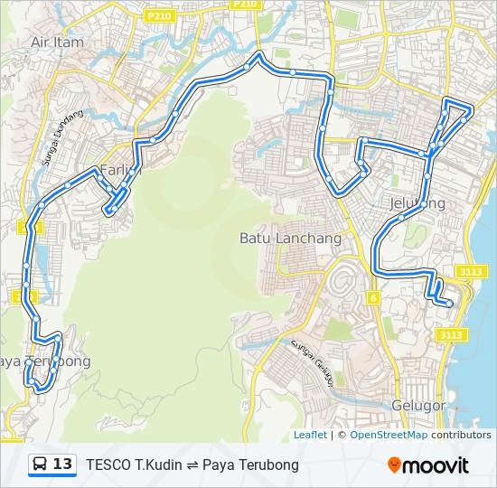 公交13路的线路图