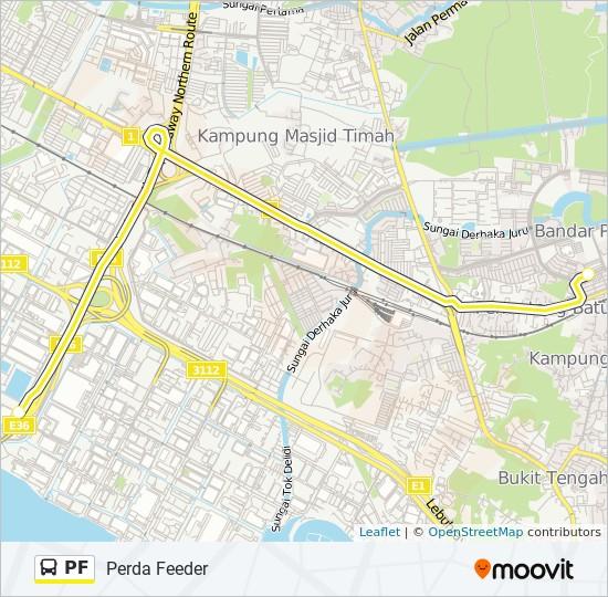 Peta Laluan bas PF