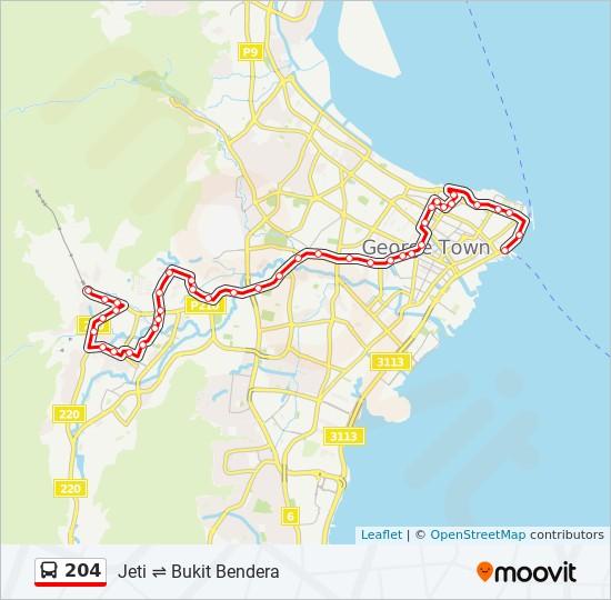 Peta Laluan bas 204