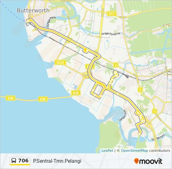 Peta Laluan bas 706