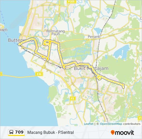 Peta Laluan bas 709