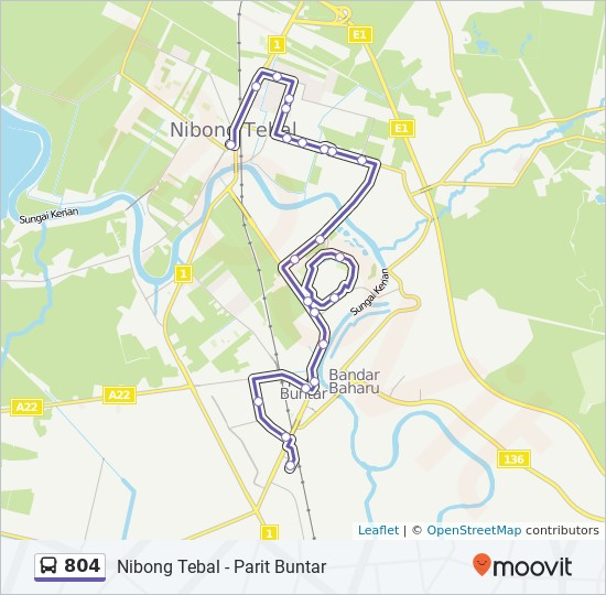 Peta Laluan bas 804