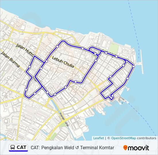 公交CAT路的线路图