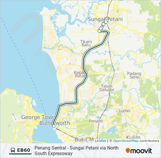 Peta Laluan bas EB60